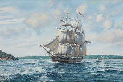 Ocean Sailboat Sailing Seascape Oil painting Hd Giclee Printed on canvas P1181