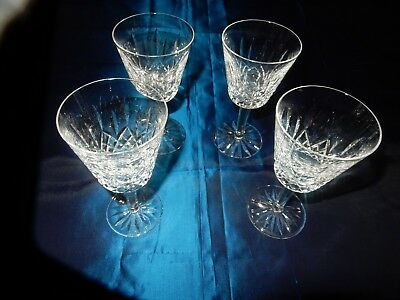Waterford Clear Crystal White Wine Glasses   set of 4 Lismore Pattern