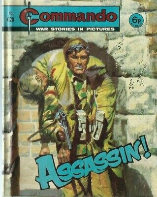 Assassin !,commando War Stories In Pictures,no.620,war Comic,1972