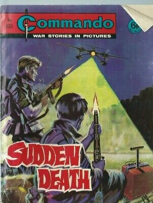 Sudden Death,commando War Stories In Pictures,no.631,war Comic,1972