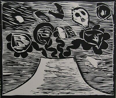 LISTED Pierre Alechinsky AUTHENTIC Signed & #'d Expressionist Woodcut #1 NO RES.