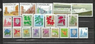 pk41832:Stamps-Canada Lot of 21 Definitive Issues - MNH