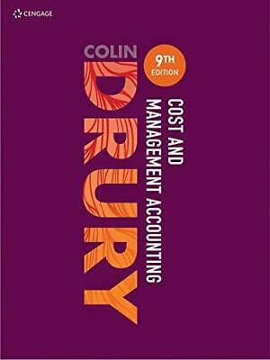Cost and Management Accounting by Drury, Colin, NEW Book, FREE & Fast Delivery,