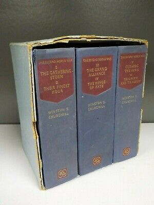 Winston S.Churchill - The Second World War - Reprint Society -3 Books! (ID:4141)