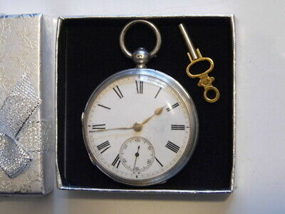 Beautiful Antique Victorian Hallmarked Silver Fusee Pocket Watch Dated 1880.