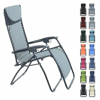 Azuma Zero Gravity Padded Relaxer Chair Reclining Garden Multi Position Lounger