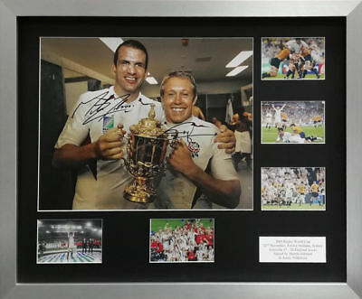 Johnson & Wilkinson signed 2003 Rugby World Cup, England rugby montage, AFTAL RD