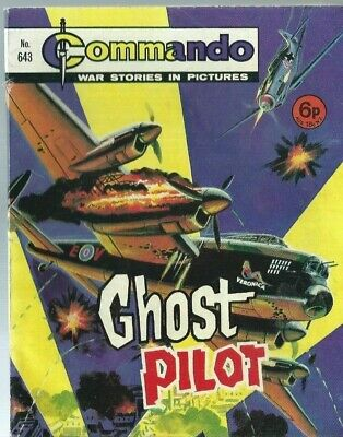 Ghost Pilot,commando War Stories In Pictures,no.643,war Comic,1972