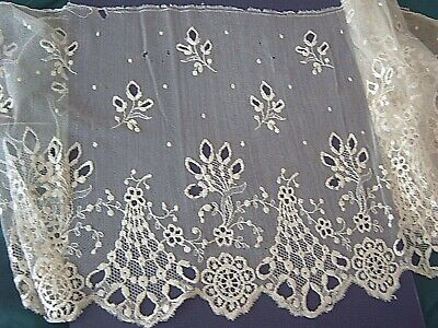 ** VINTAGE LACE - DEEP EDGING JOINED IN CIRCLE - 2 PIECES - 60 x 24 cms  [A6]