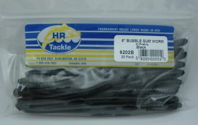 """Haw River 6203B 6/"""" Bubble Gum Worm 20CT Yellow 24124"""