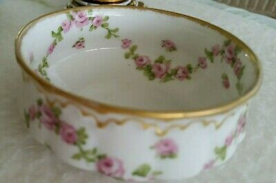 Antique THEODORE HAVILAND LIMOGES FRANCE Small Berry Sugar Bowl Rose Garland