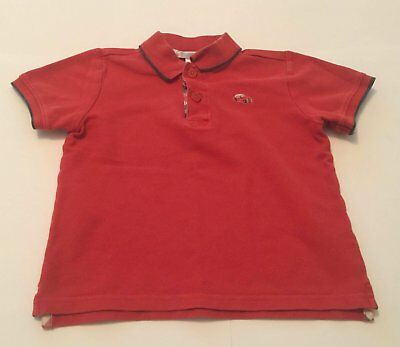 Reduced! Size 4T Boys  Janie And Jack Collared Polo Shirt Orange.   Free Ship