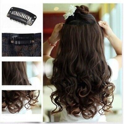 Fashion Multicolor Synthetic Wavy Curly Full Head Hair Extensions With Clip