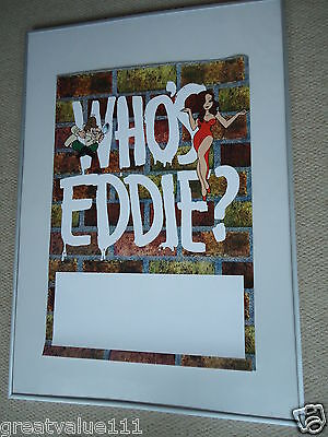 Who`s Eddie Concert Gig Poster 1992 Unreleased Printers Gig Poster Rare Valuable