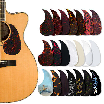 Acoustic Guitar Pickguard Pick Guard Soft Scratch Plate Adhesive Comma Shape