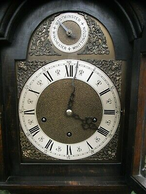 1920s Grandmother Clock Westminster Whittington Winchester Chimes / Grandfather