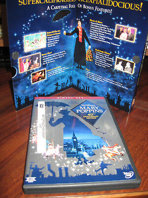Mary Poppins 40th Anniversary Edition DVD, 2004 2Disc Set Brand New Sleeve/ Case