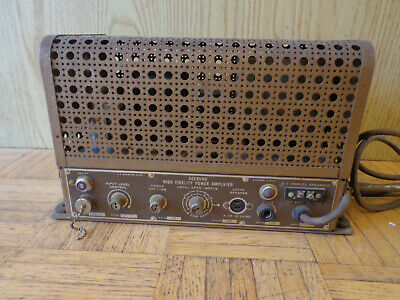 Seeburg High Fidelity Tube Amplifier Type HFA1-L6 Parts or Restore Library Unit