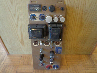 Seeburg High Fidelity Tube Amplifier Type MRA5-L6 Parts or Restore