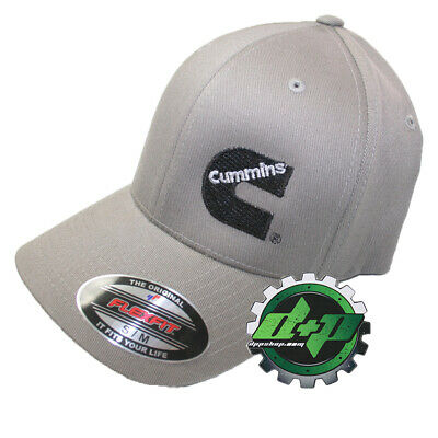c4af99ccb7f Dodge Cummins Med. Gray Flexfit Hat ball cap fitted flex fit stretch new S