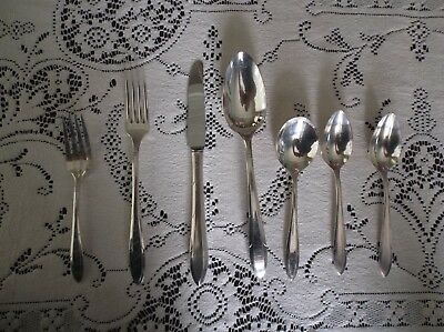 "Community ART DECO  Nobility Silver Plate 7 Pieces  ""Reverie""  C. 1937"