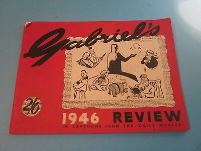 Vintage Gabriel's 1946 Review in Cartoons from the Daily Worker. Good Condition