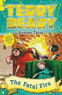 Roman Tales: the Fatal Fire by Terry Deary Paperback Book Free Shipping!
