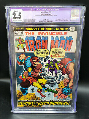 Invincible Iron Man #55 CGC 2.5 Restored Color Touch 1st Appearance Thanos