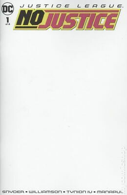Justice League No Justice 1B 2018 Blank Variant NM Stock Image