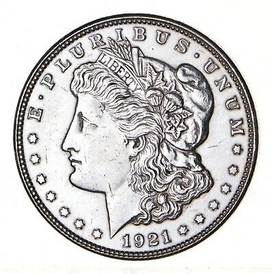 1921 - Morgan Silver Dollar - Last Year - 90% - US Coin *124