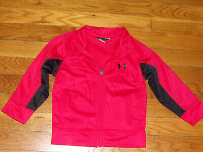 Under Armour Red/black Full Zip Athletic Jacket Boys Toddler 24 Months Exc.
