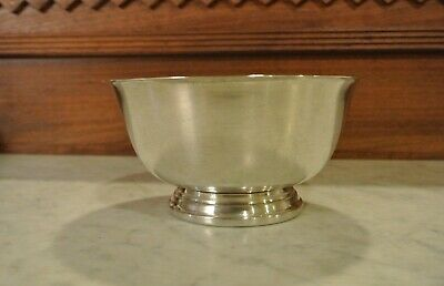 Vintage Paul Revere Reproduction Oneida U.S.A. Bowl, Silver Plated, Footed Base