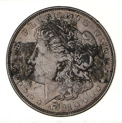 1921 - Morgan Silver Dollar - Last Year - 90% - US Coin *111