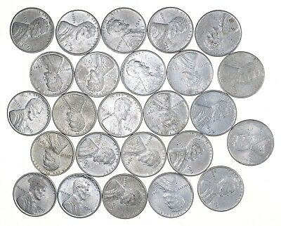 1/2 Roll 1943 Lincoln Wheat STEEL Cent - Beautiful Mostly BU Unc 25 Coins *683