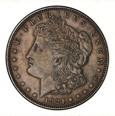 1921 - Morgan Silver Dollar - Last Year - 90% - US Coin *132