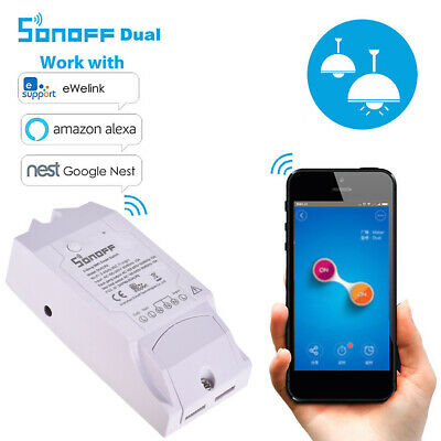 Sonoff Dual R2 Smart Home WiFi Switch Module Monitor For IOS Android P4T5