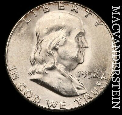 1952-S Franklin Half Dollar - Gem  Brilliant Uncirculated!!  Key Date!!  #e5199