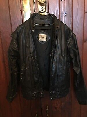 Rawhides Vintage Black Leather Jacket Medium