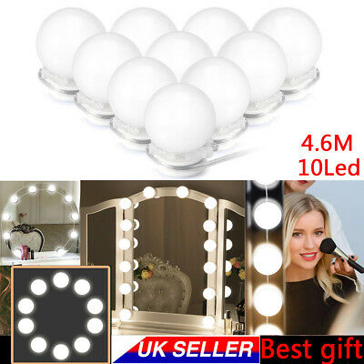 2019 Hollywood Style DEL Vanity Mirror Lights Kit avec Dimmable 10 LED Lumière