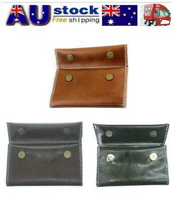 Leather Cigarette Tobacco Pouch Bag Case Rolling Paper Pipe Holder Portable AU
