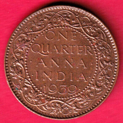 British India - 1939 - One Quarter Anna - Kg Vi - Rare Coin #l11
