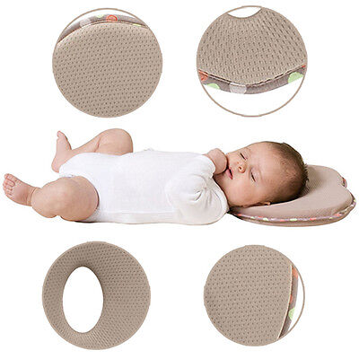 Newborn Infant Baby Pillow Memory Foam Prevent Flat Head Anti Roll Positioner AU