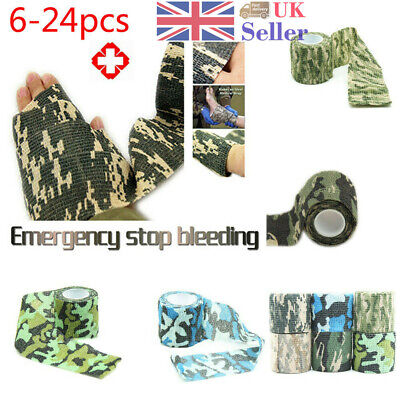 12Pcs Self-Adhesive Non-Woven Camouflage Hunting Wrap Camo Bandage Tape Outdoor