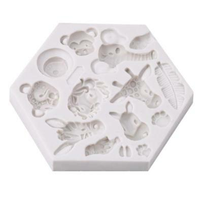 3D Forest Animal Silicone Fondant Chocolate Mould Cake Decor Sugarcraft Mold BS