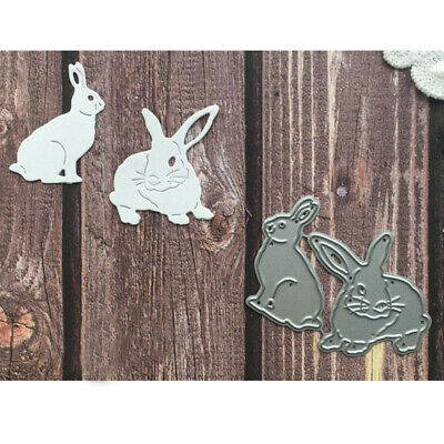 Cute Bunny Metal Cutting Dies Stencils Scrapbooking Paper Cards Making Crafts