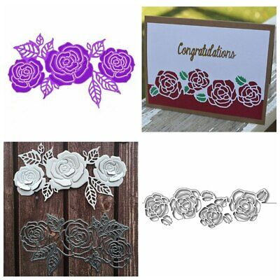 Blooming Flower Metal Cutting Die Stencil Paper Cards Crafts Handmade Decorative