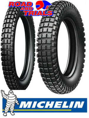 New Michelin Trials Tyres Front & Rear 400 18 275 21 X11 Trial Competition PAIR