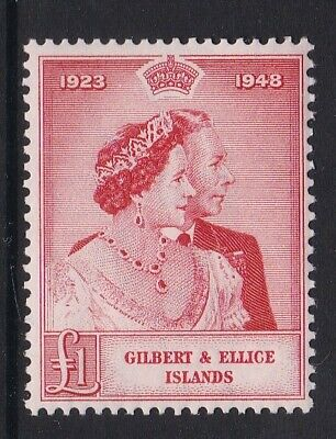 Gilbert And Ellice Islands 1948 Silver Wedding £1 Never Hinged Mint