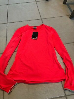 eb0ed422ad150d NIKE WOMEN S PRO Warm Half Zip Long Sleeve Shirt Blue Sz small Style ...