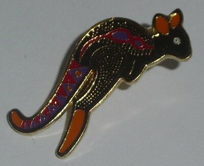 dot art Style KANGAROO PIN Australian Souvenir Hat Lapel badge dotart